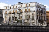 image of piazza  - Palermo Piazza Pretoria also known as the Square of Shame Piazza della vergogna - JPG