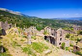 pic of sparta  - Ruins of old town in Mystras - JPG