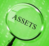 image of asset  - Assets Magnifier Meaning Searches Estate And Magnify - JPG