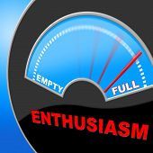 image of indications  - Full Of Enthusiasm Indicating Do It Now And Action - JPG