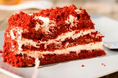 image of red velvet cake  - red velvet cake - JPG