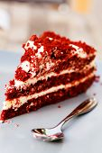 picture of red velvet cake  - red velvet cake - JPG