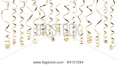 Gold Serpentine Isolated On White Background