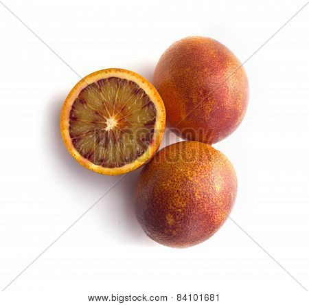 Ripe red blood oranges