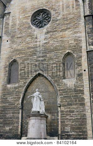 Statue of Jacques-Benigne Bossuet