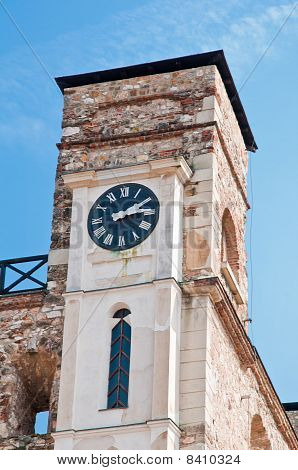 Clocktower Of The Fort In Sarospatak