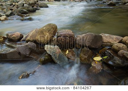 stone and river