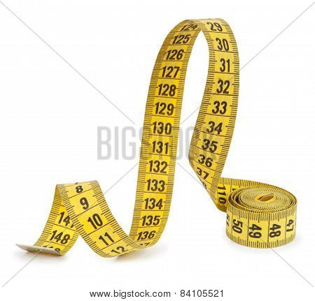 Measuring Tape Isolated On White Background