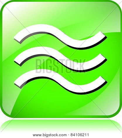 Green Waves Icon