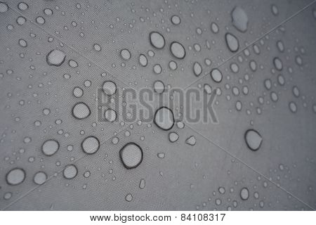 Raindrops on Tent Roof