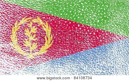 Flag Of Eritrea With Old Texture. Vector