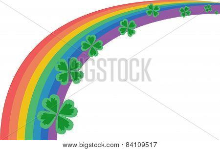 Rainbow And Clover