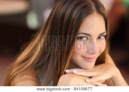 Portrait Of A Confident Woman With Smooth Skin
