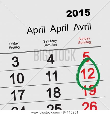 April 12 - Orthodox easter 2015 calendar