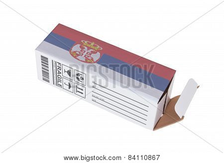 Concept Of Export - Product Of Serbia