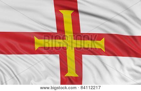 3D Guernsey Flag