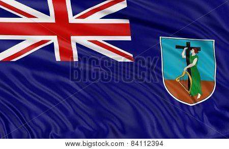 3D Montserrat Flag