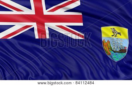 3D Saint Helena Flag