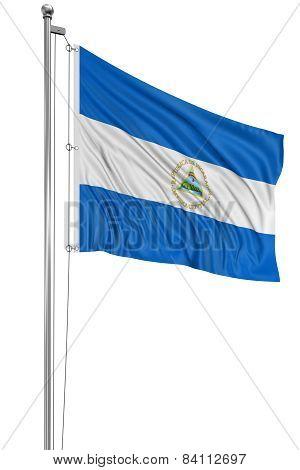 3D Nicaragua flag
