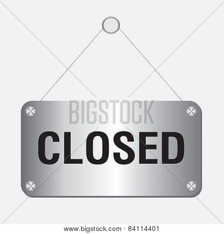 silver metallic closed