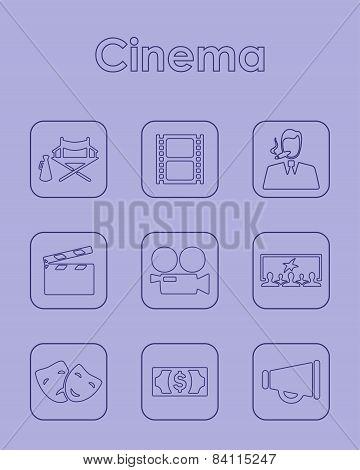 Set of cinema simple icons