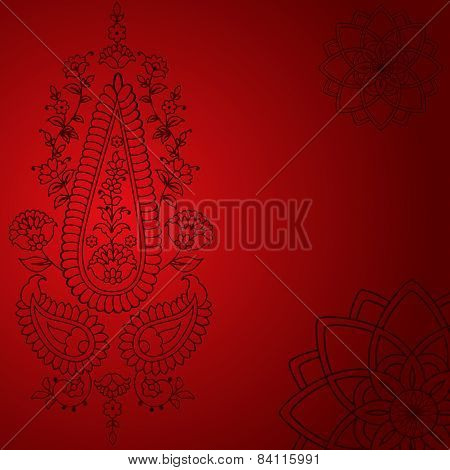Red paisley design background