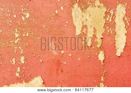 Grungy Yellow Cement Wall Texture