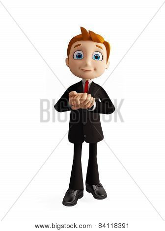 Businessman With Promise Pose
