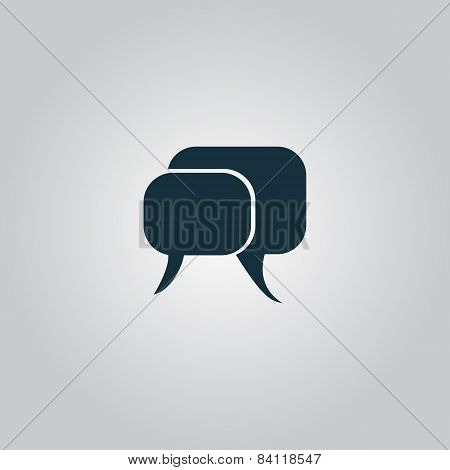 dialogue quote vector icon