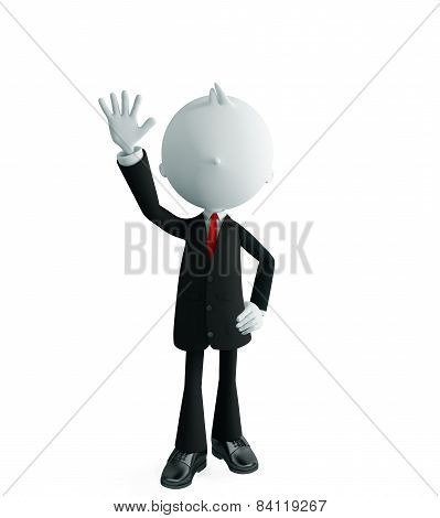 Businessman With Bye Pose