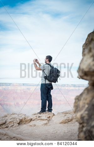 The Hiker With Smarthphone