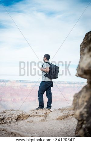 The Hiker At Grand Canyon