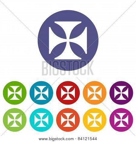 Crusaders flat symbol