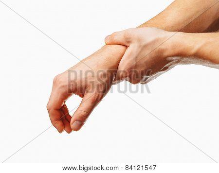 Pain in a male wrist