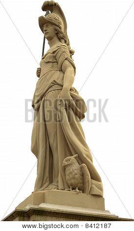 Statue Of Minerva On The Old Bridge (alte Brücke) in Heidelberg