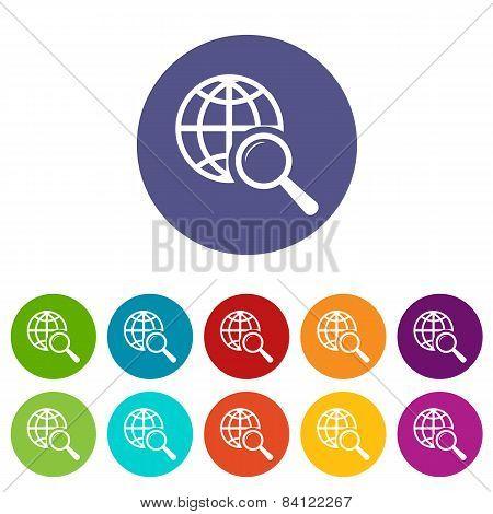 World scan flat icon