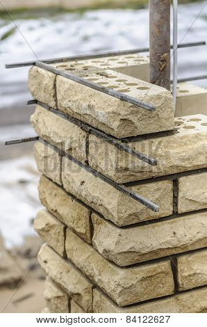Building Column From Brick