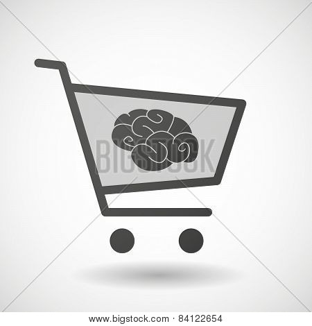 Shopping Cart Icon With A Musical Note