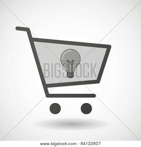 Shopping Cart Icon With A Light Bulb