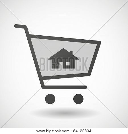 Shopping Cart Icon With A House