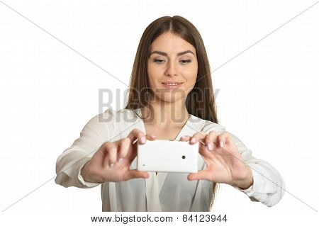 girl with mobile