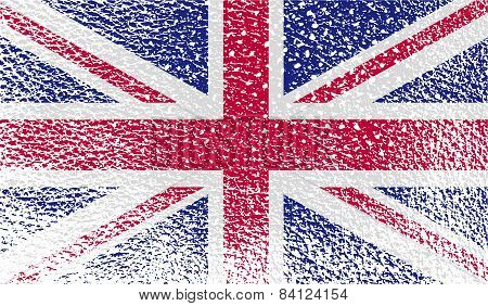 Flag Of United Kingdom With Old Texture. Vector