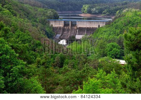 The reservoir and hydraulic power plant Dalesice in the Czech republic
