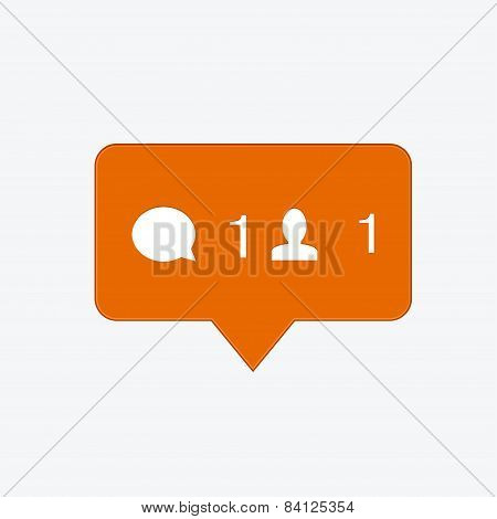vector modern follow orange icon