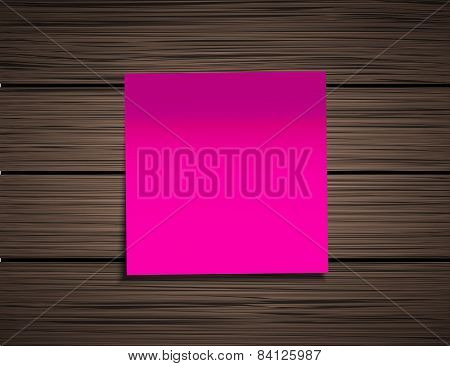 Vector modern square sticky note
