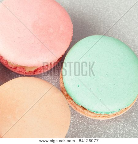 Top view of French Macarons