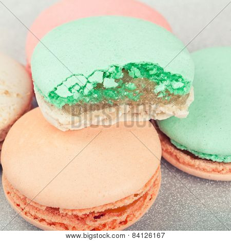 French sweets Macarons