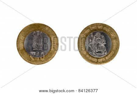 Ten Indian Rupee Coin