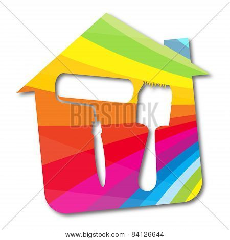 Vector symbol painted houses