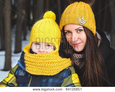 Of Family On Winter